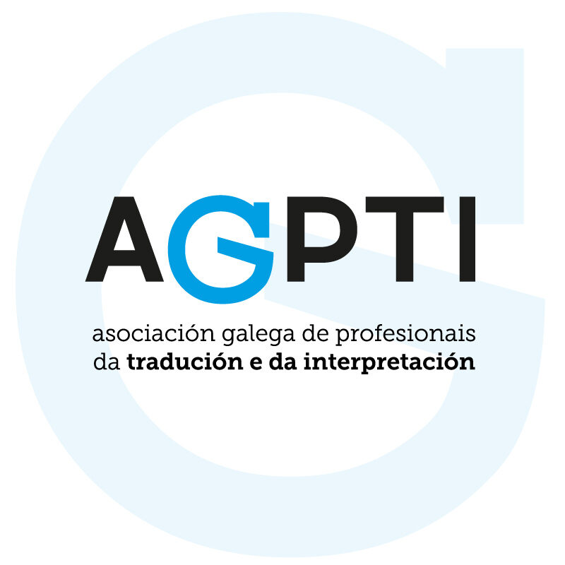 Logotipo da Asociación Galega de Profesionais da Tradución e da Interpretación (AGPTI)