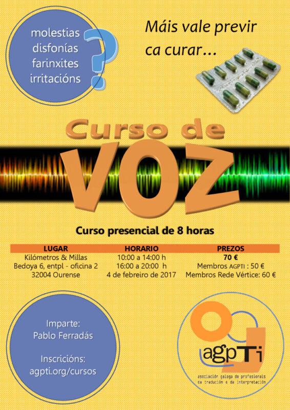 Curso de voz en Ourense