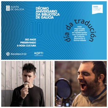 Faladoiro entre Samuel Solleiro e Roi Vidal Ponte polo Día Internacional da Tradución